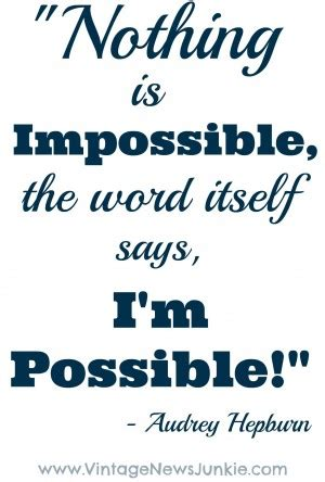 There is nothing impossible in life essay